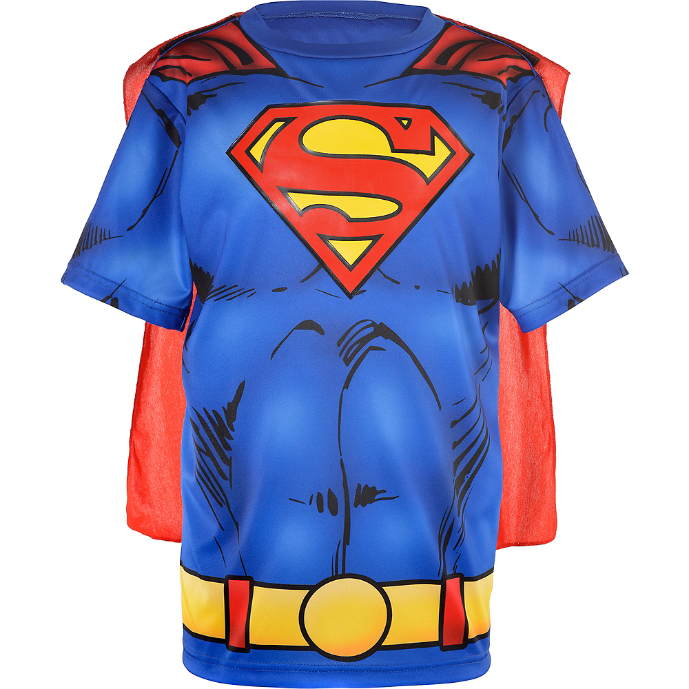 Child Superman T Shirt With Cape Superman Costumes Party City