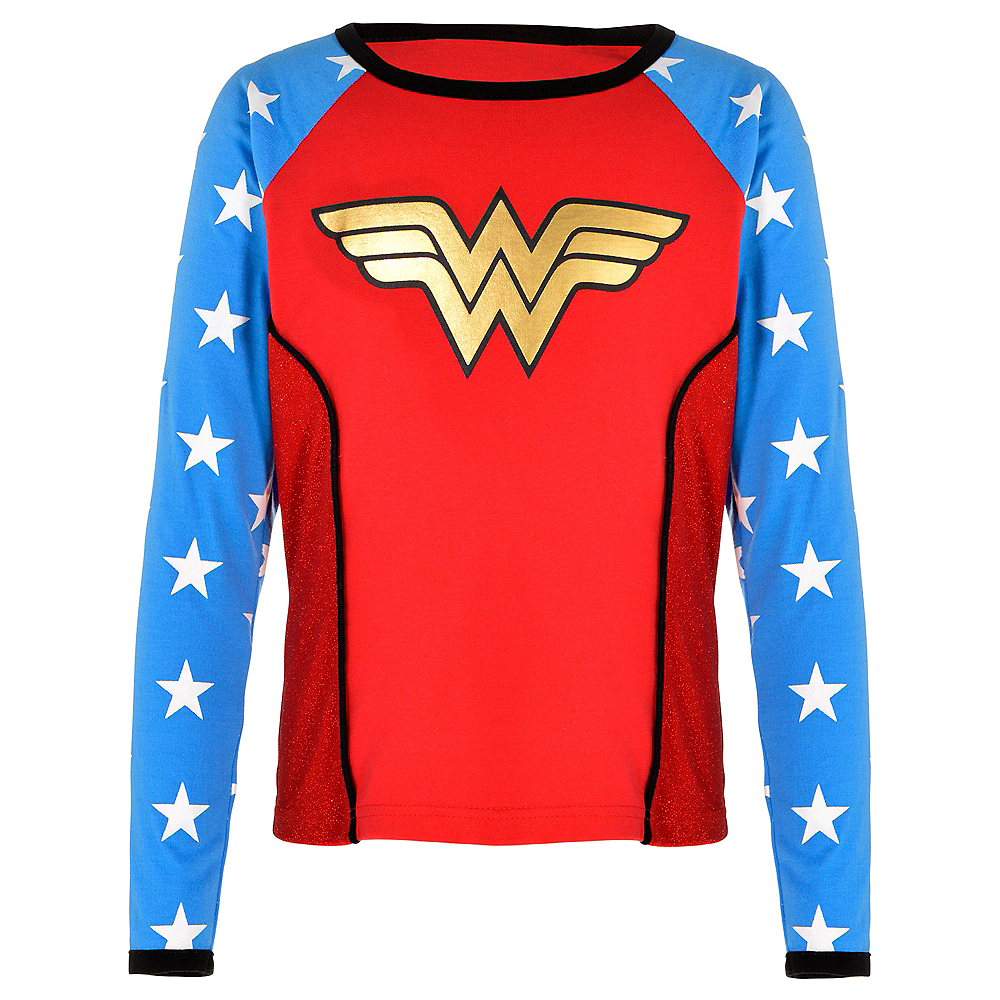 Child Wonder Woman Long-Sleeve Shirt Image #1