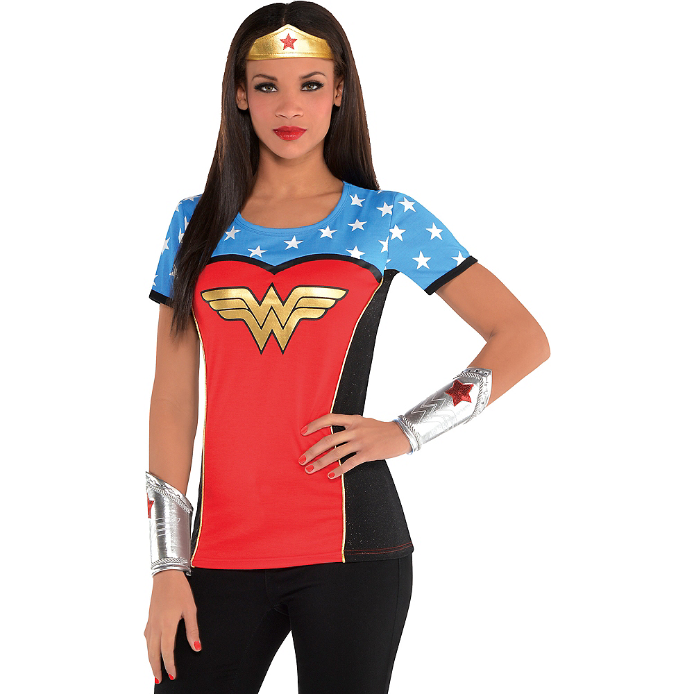 Adult Wonder Woman T Shirt Image 1