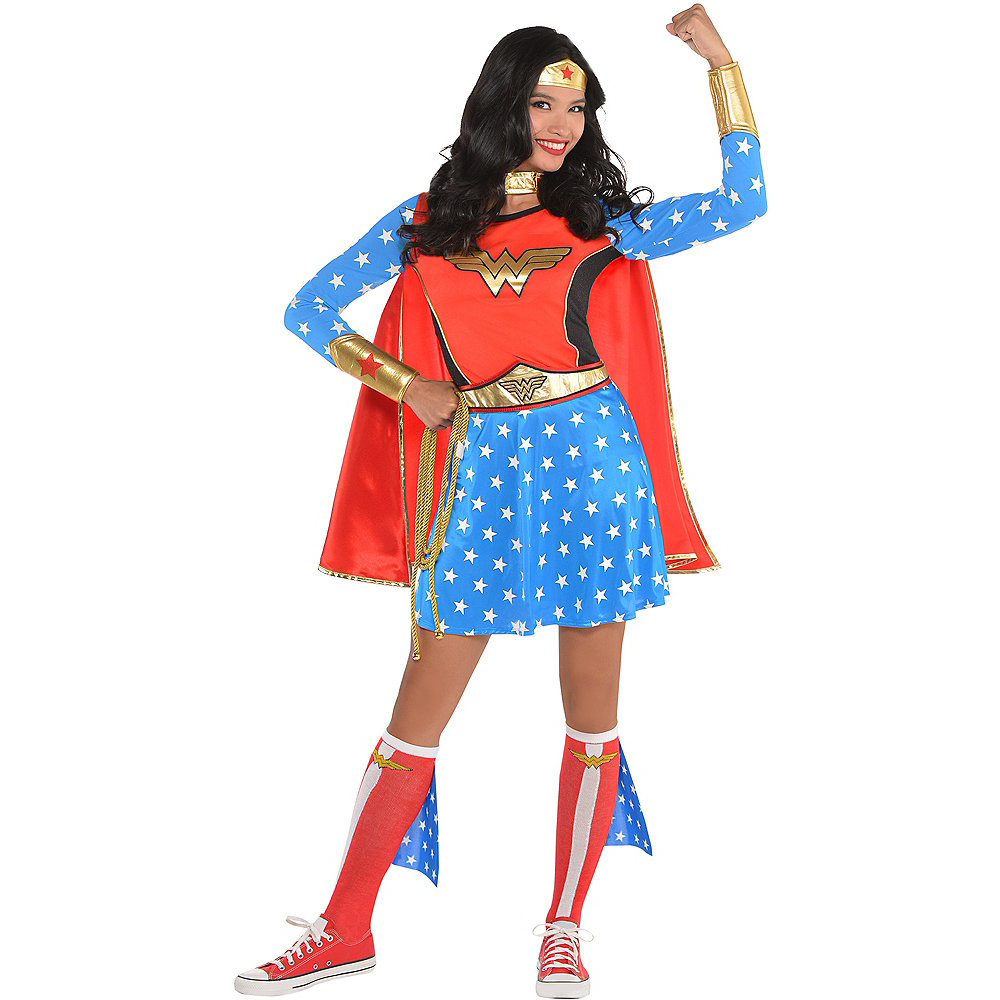 Adult Wonder Woman Long-Sleeve Shirt Image #2