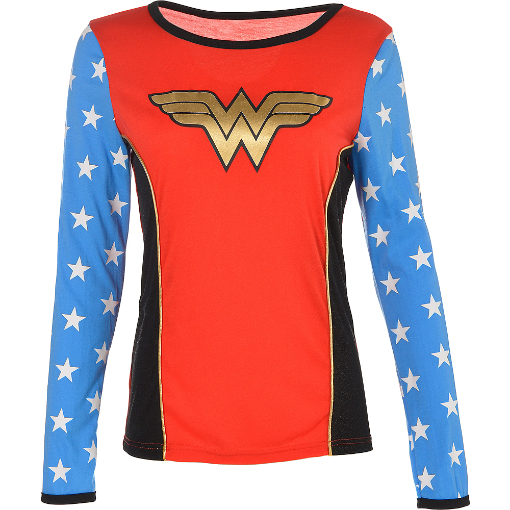 Adult Wonder Woman Long-Sleeve Shirt Image #3