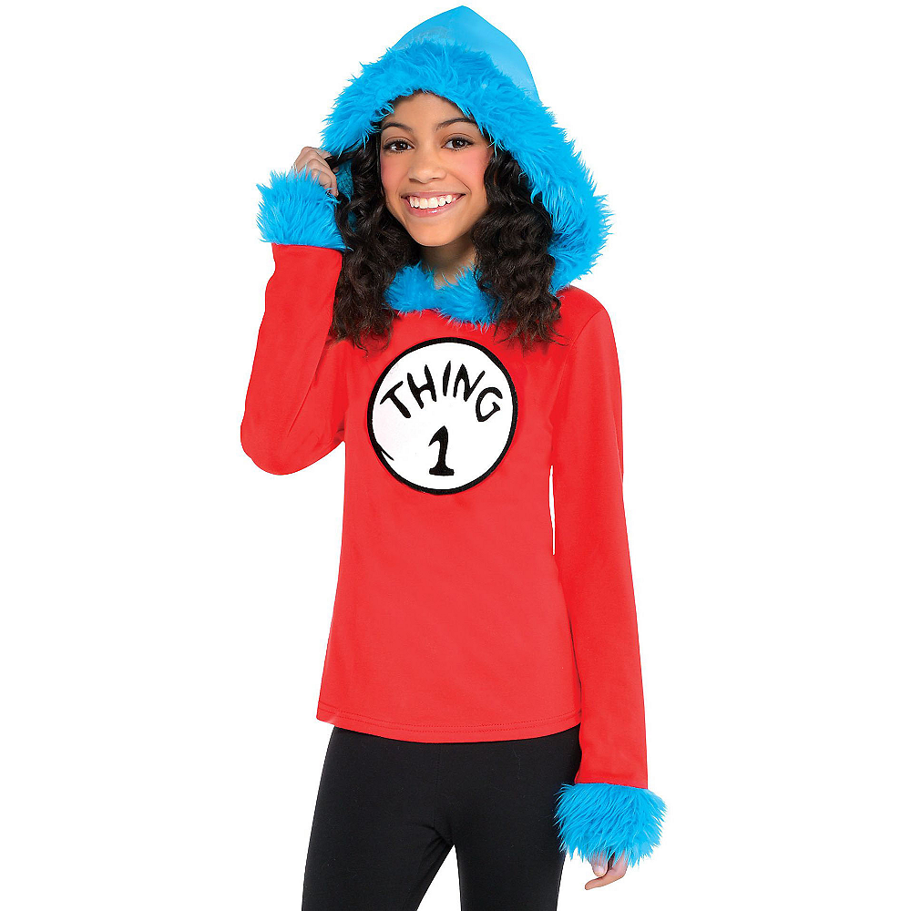 Child Thing 1 & Thing 2 Hooded Long-Sleeve Shirt - Dr. Seuss Image #1