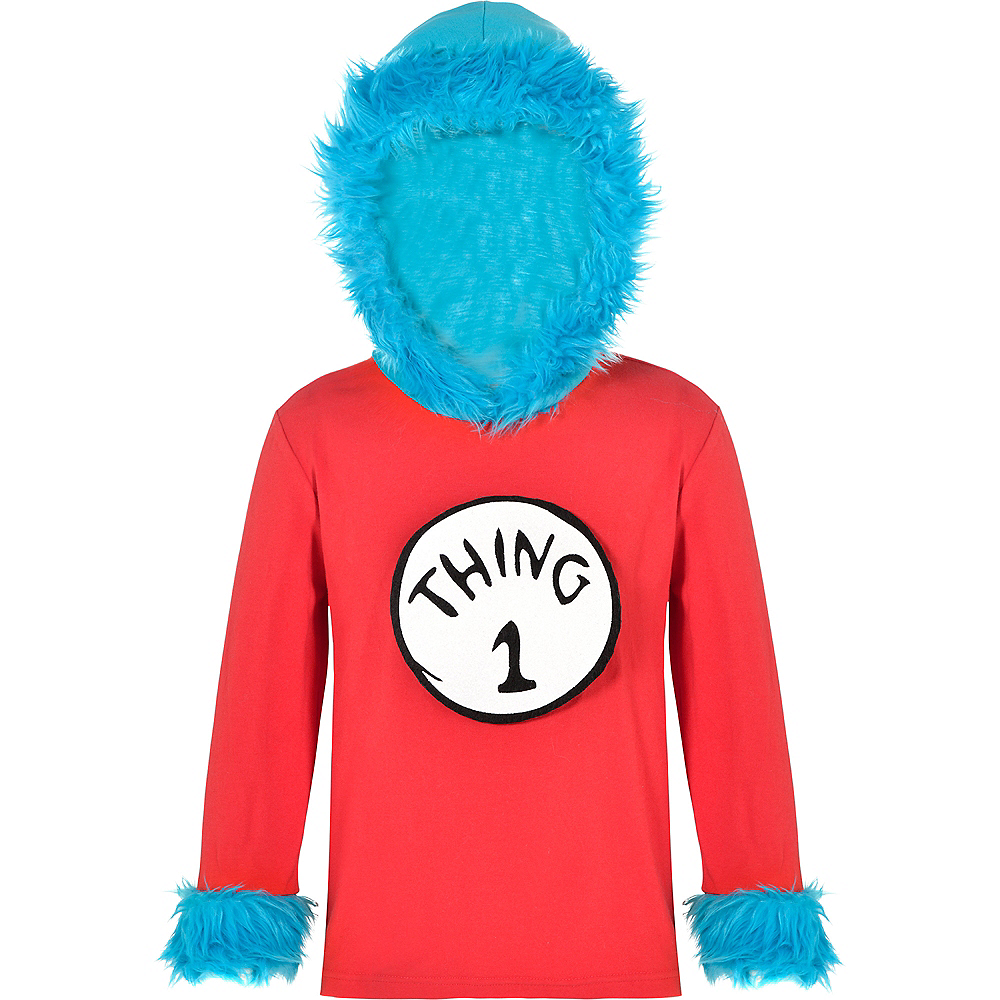 Nav Item for Child Thing 1 & Thing 2 Hooded Long-Sleeve Shirt - Dr. Seuss Image #2