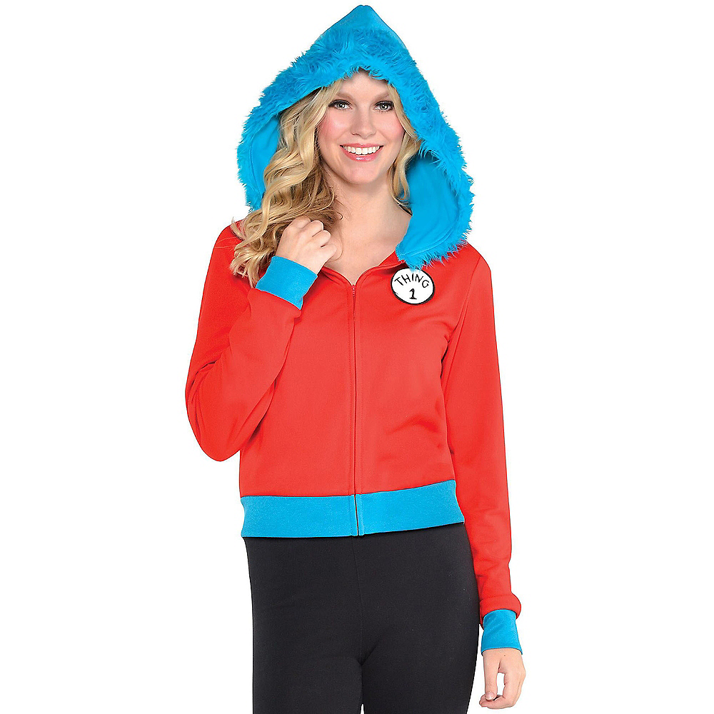Adult Thing 1 & Thing 2 Hoodie - Dr. Seuss Image #1