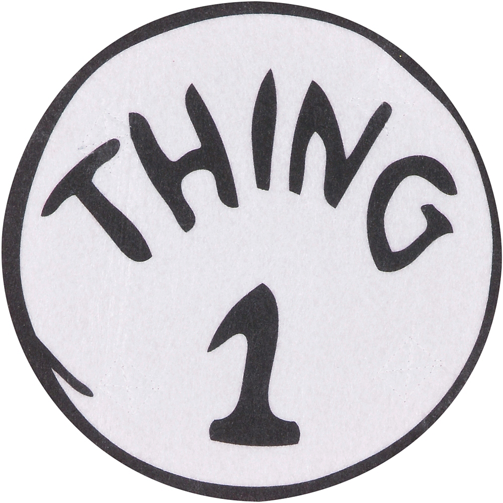 Adult Thing 1 & Thing 2 Accessory Kit - The Cat in the Hat Image #2