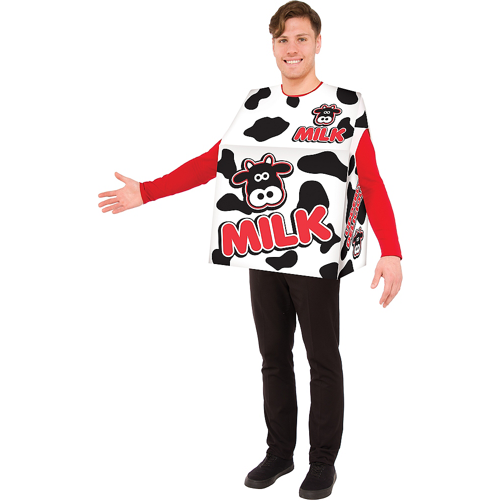 Adult Milk Box Costume Image #1