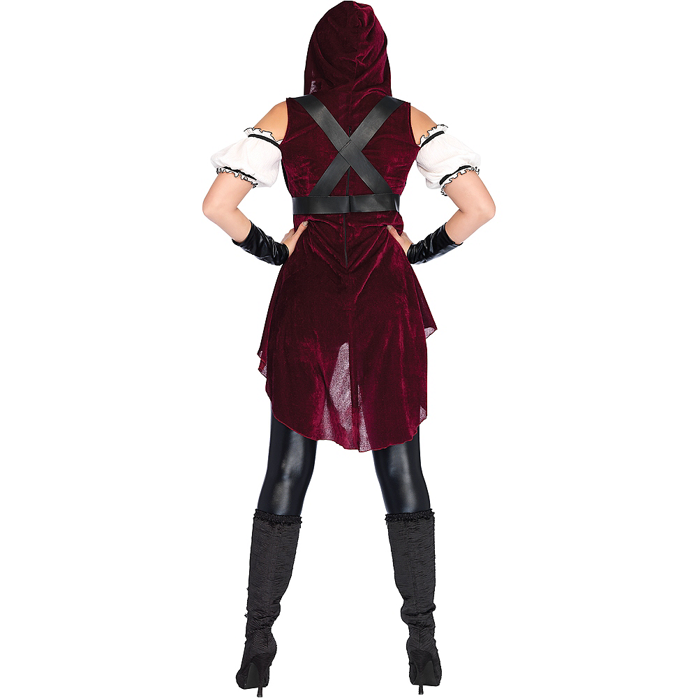 Adult Rebel Red Huntress Costume Image #2