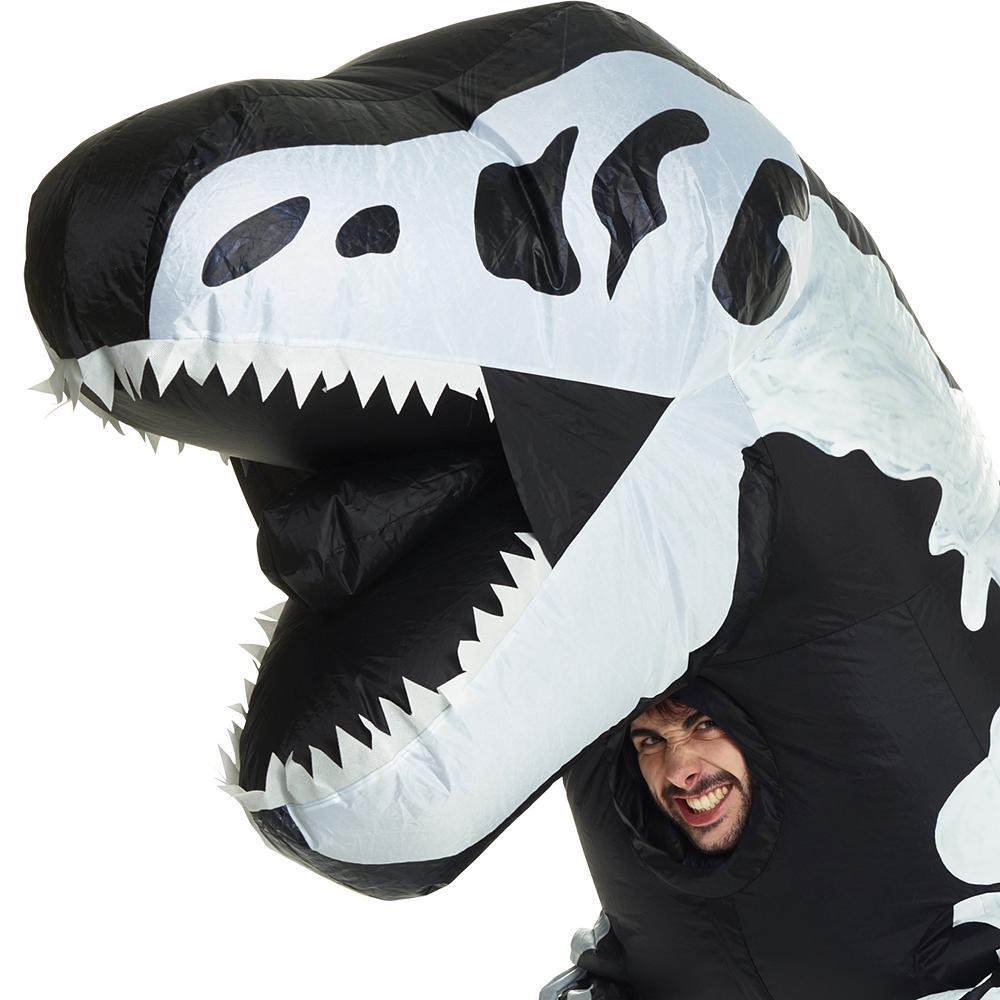 Adult Inflatable Skeleton T-Rex Dinosaur Costume Image #2