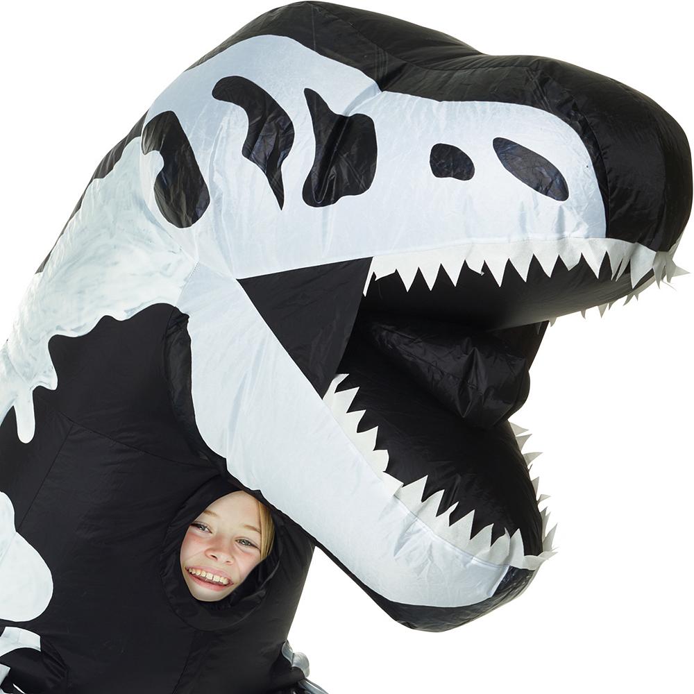 Child Inflatable Skeleton T-Rex Dinosaur Costume Image #2