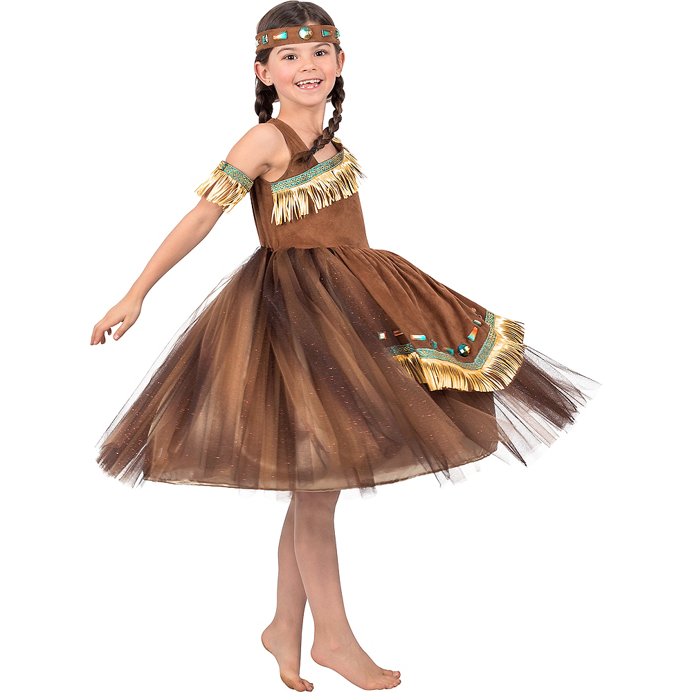 Girls Native American Princess Costume Image #2