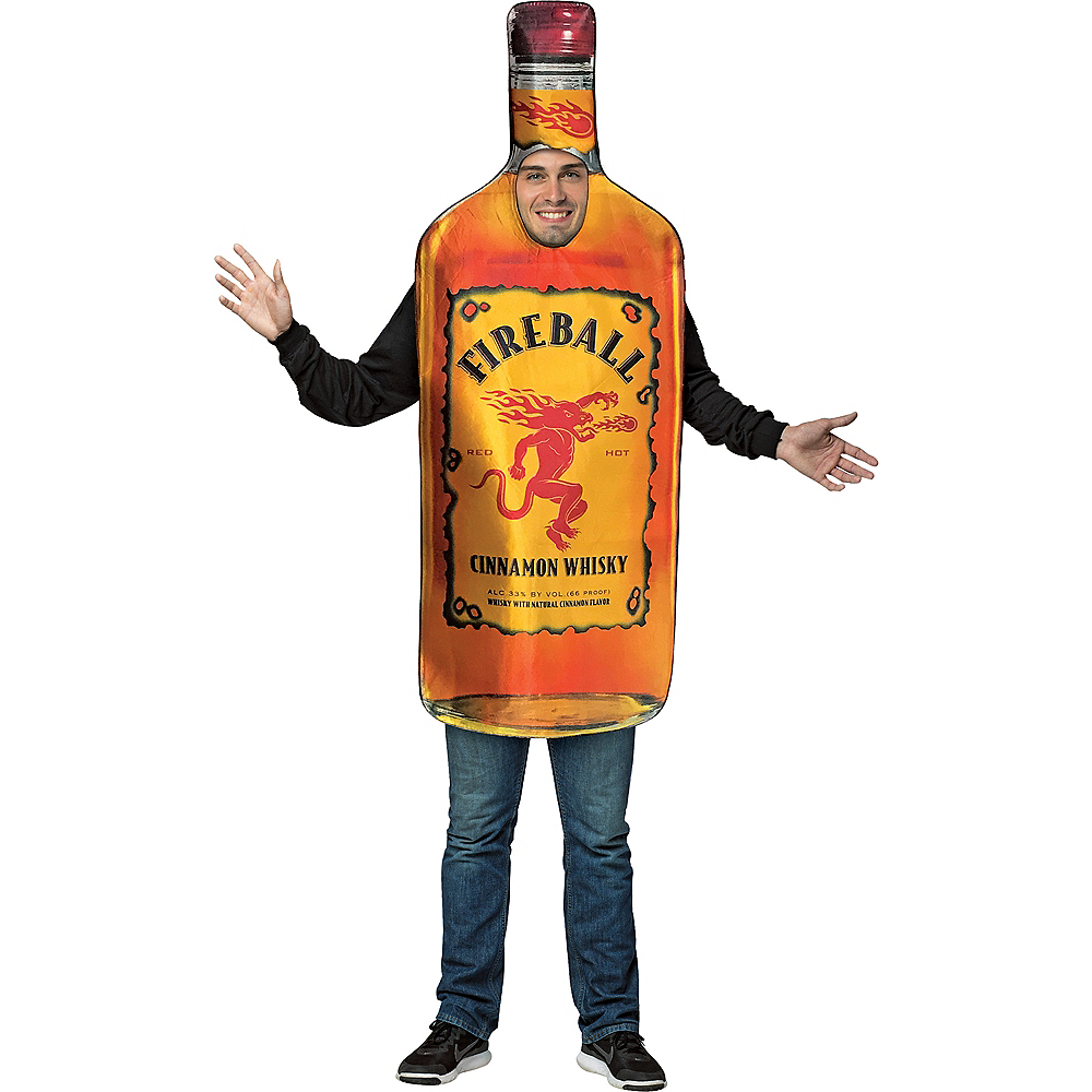 Adult Bottle of Fireball Costume Image #1