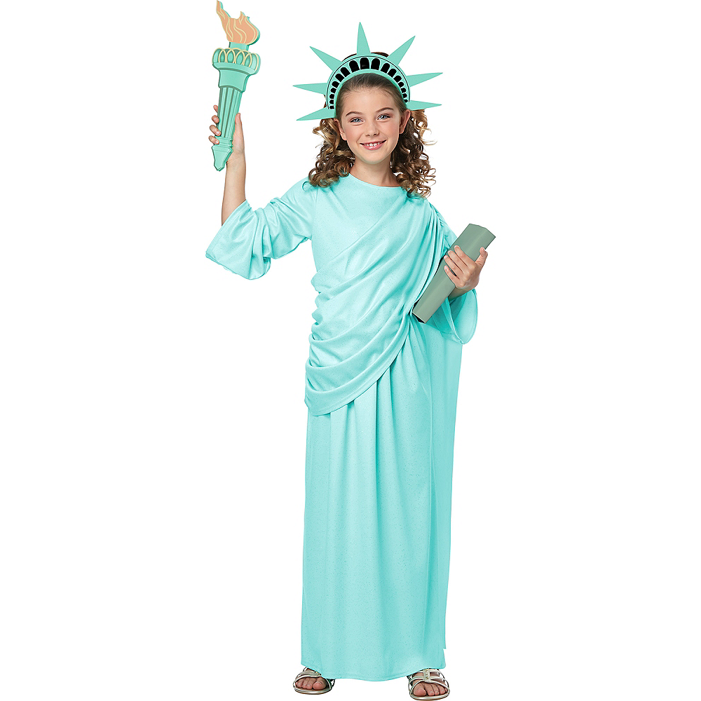 child statue of liberty costume accessory kit