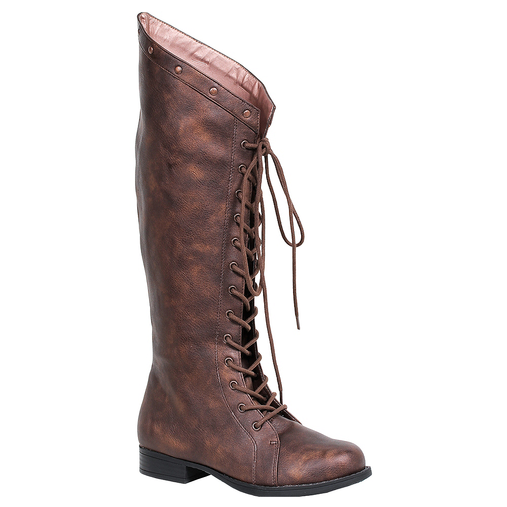 Adult Brown Studded Boots Image #1