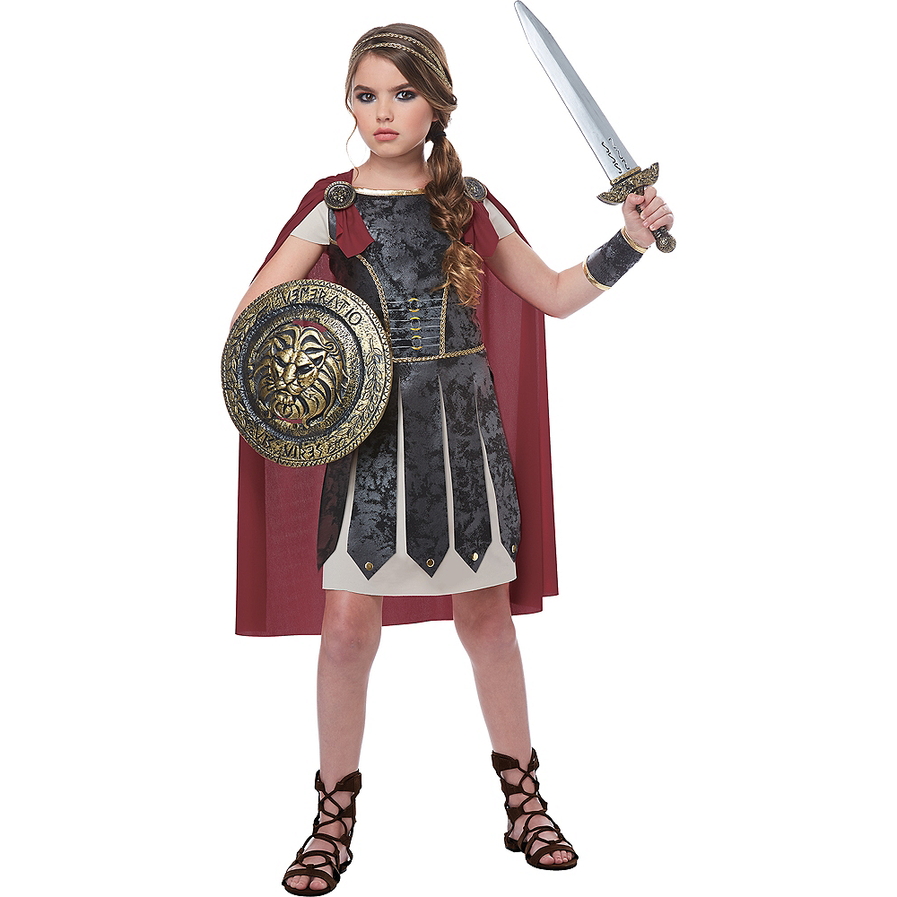 Girls Fearless Gladiator Costume Image #1