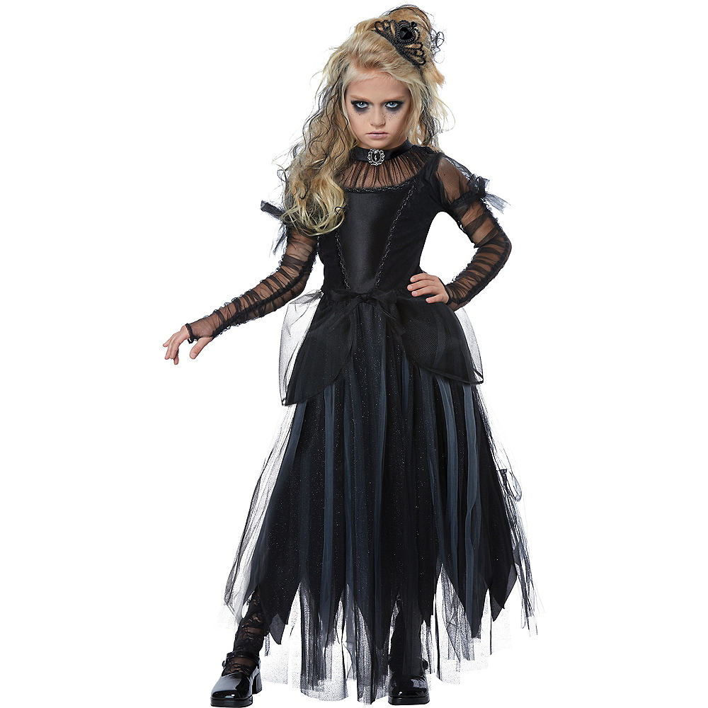 Girls Dark Princess Costume Image #1