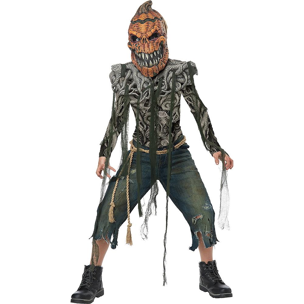 Boys Evil Pumpkin Creature Costume Image #1