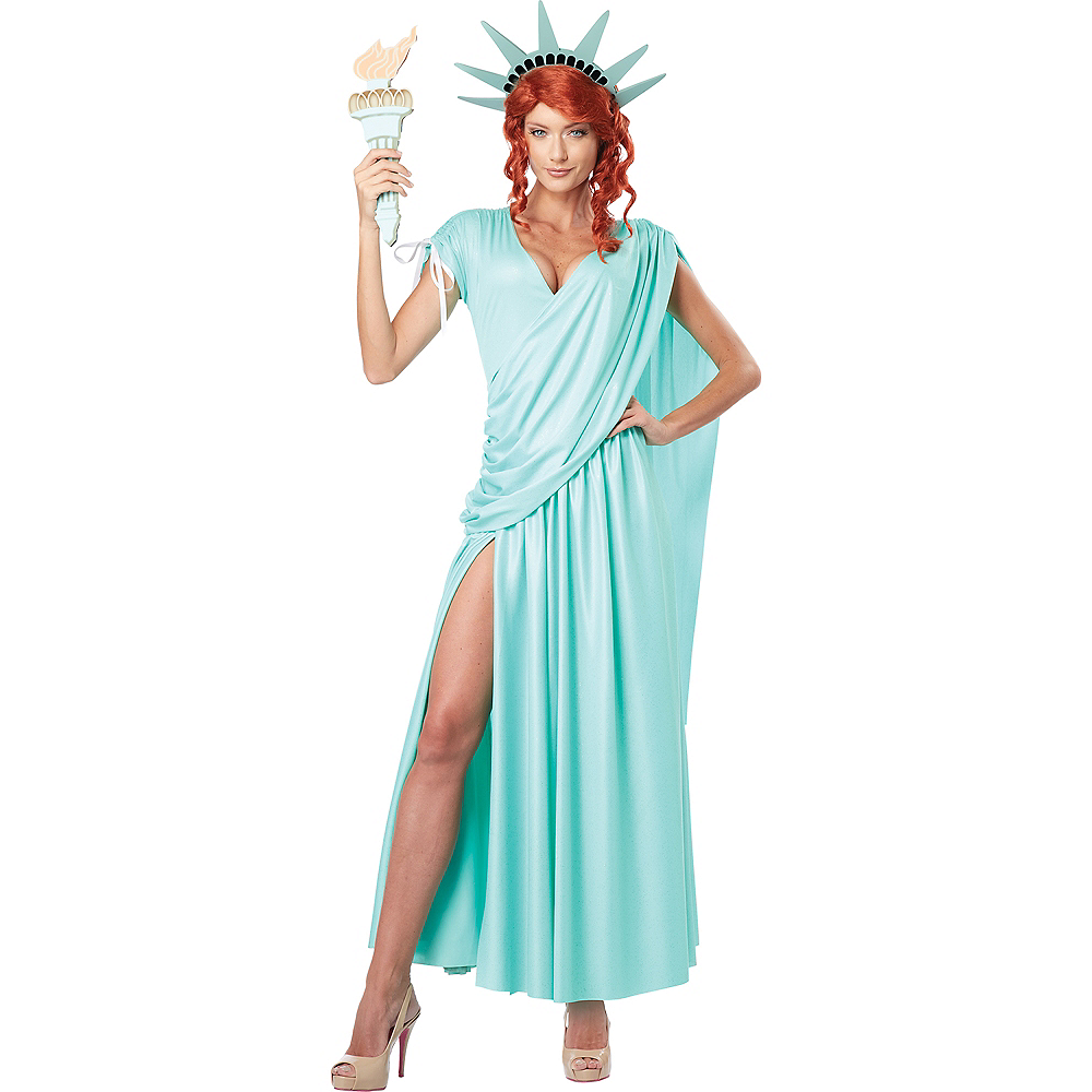 Adult Sexy Lady Liberty Costume Image #1