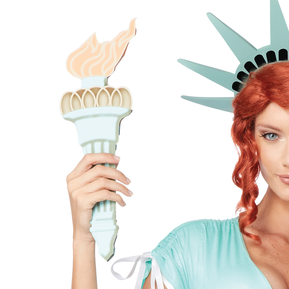 Adult Sexy Lady Liberty Costume Image #3