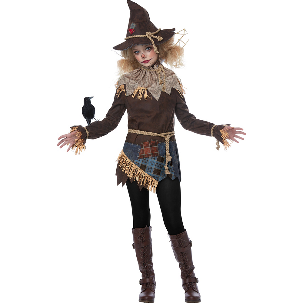Girls Creepy Scarecrow Costume Image #2