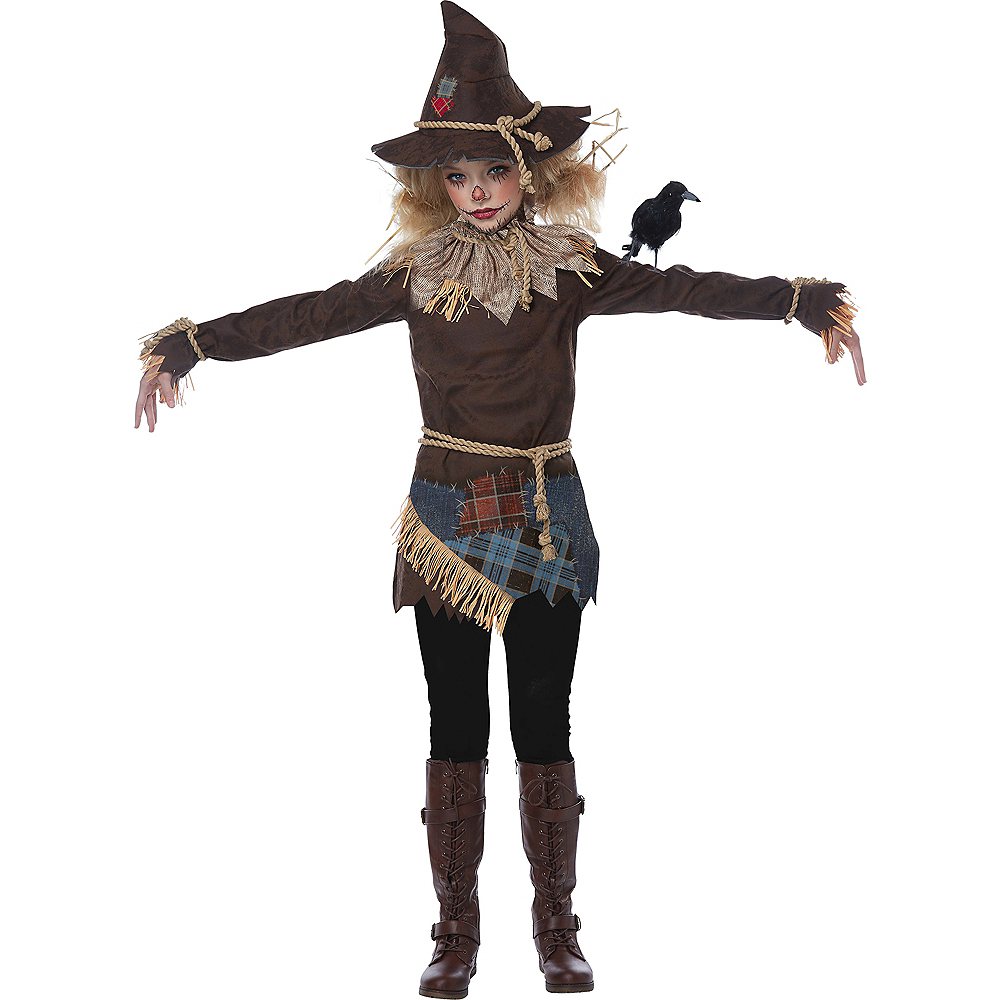Nav Item for Girls Creepy Scarecrow Costume Image #3
