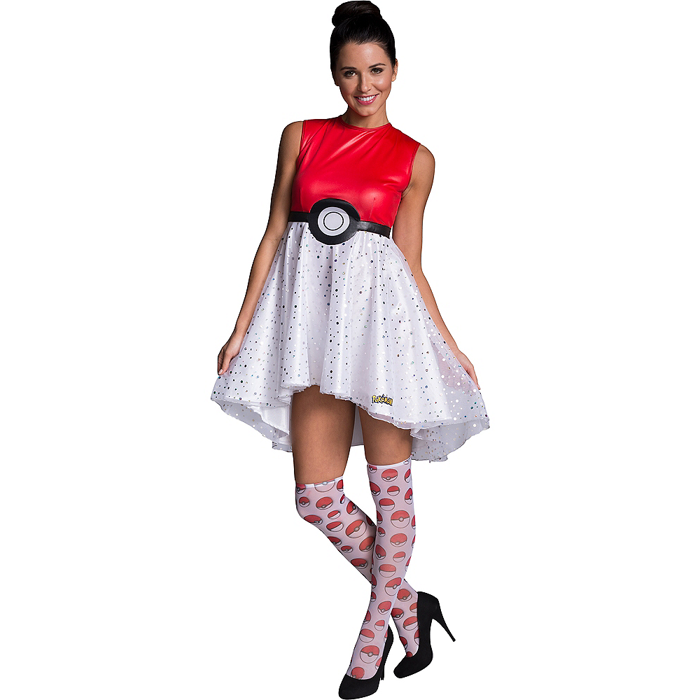 Adult Pokeball Dress Costume - Pokemon Image #1