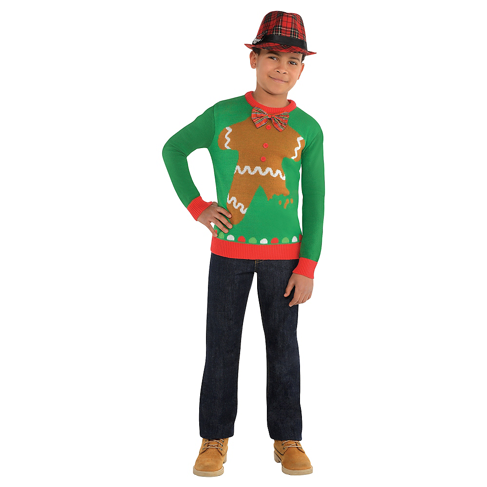 Child Gingerbread Man Ugly Christmas Sweater Image #2