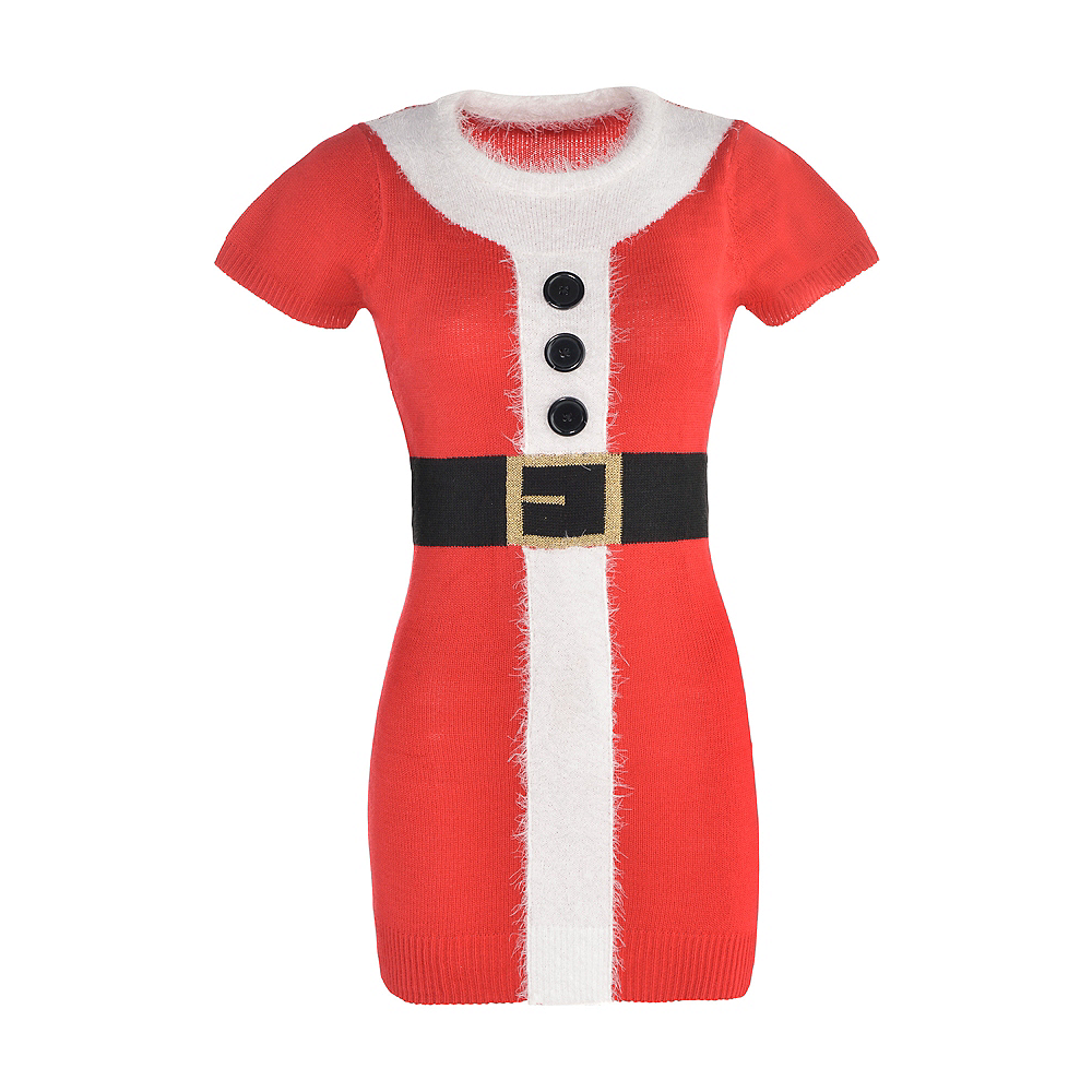 Adult Santa Sweater Dress Image #2