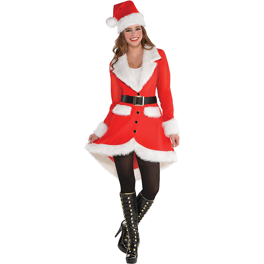 Nav Item for Adult Elegant Santa Costume Image #1