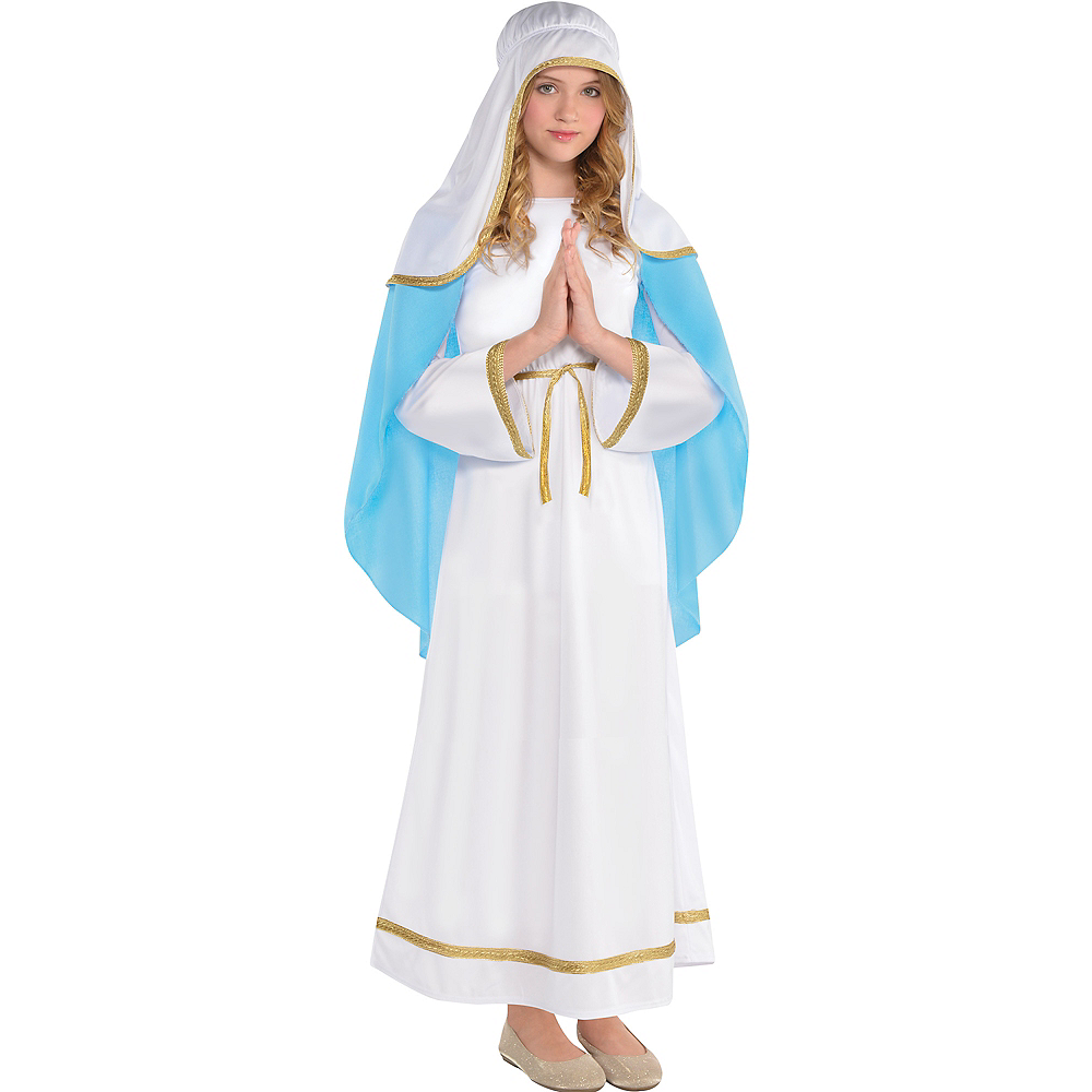Girls Holy Virgin Mary Costume Image #1