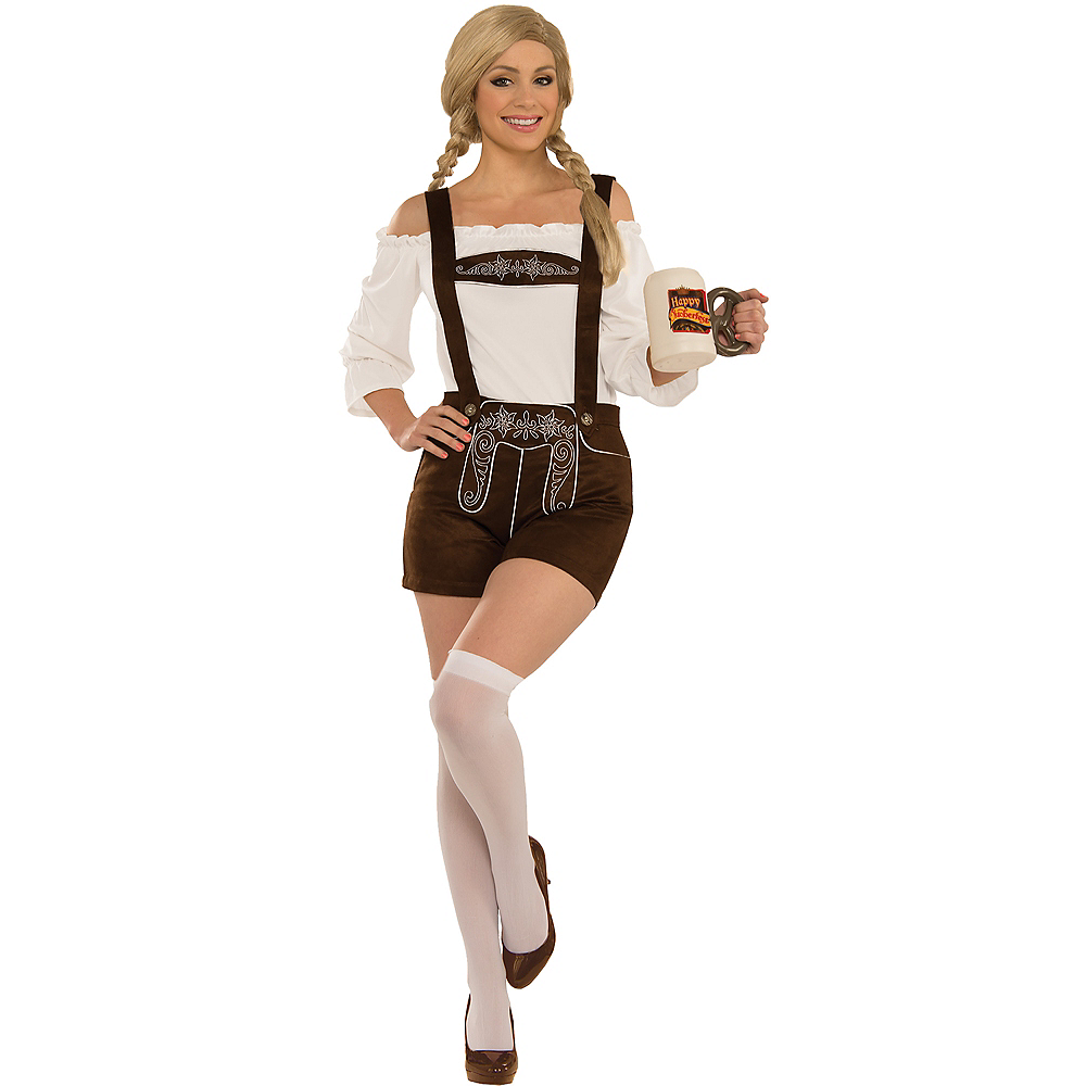 Womens Lederhosen Costume Accessory Kit Image #1