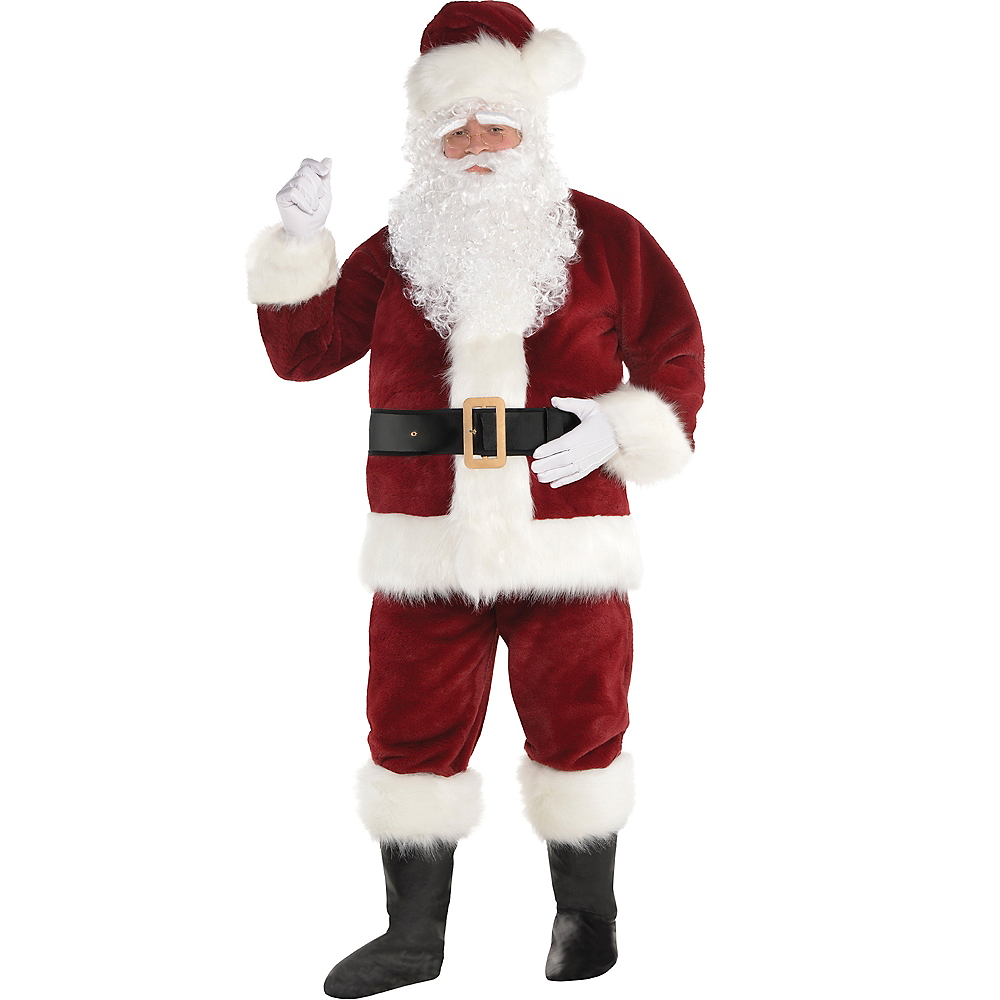 Adult Dark Red Santa Suit Image #1