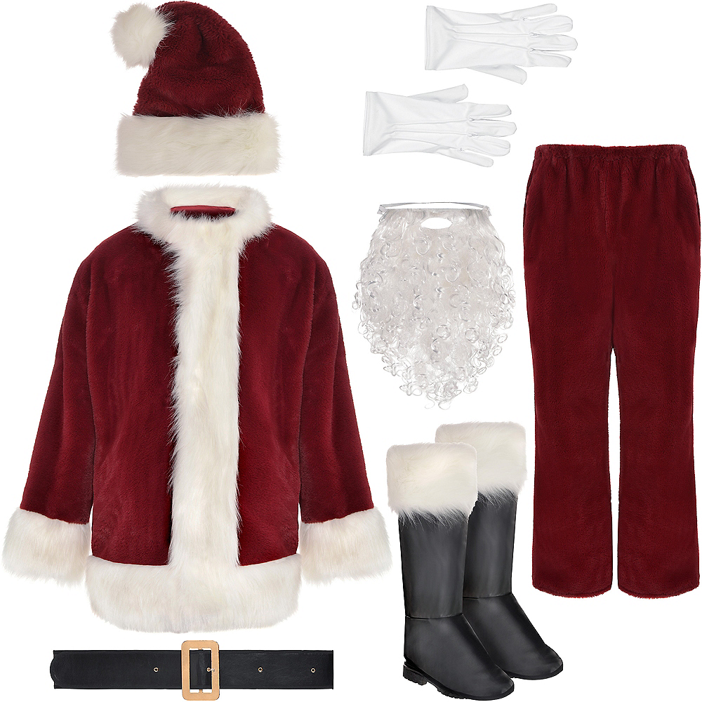 Adult Dark Red Santa Suit Image #2