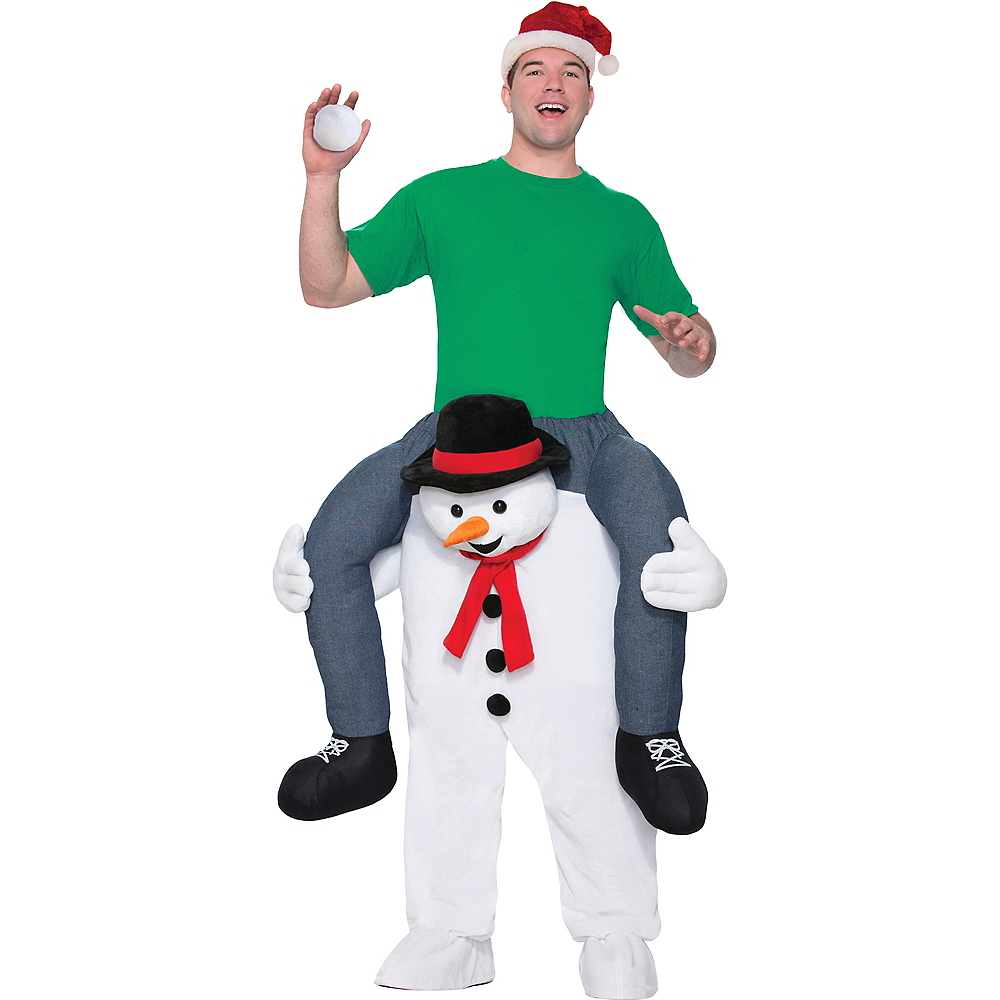 Adult Snowman Ride-On Costume Image #1