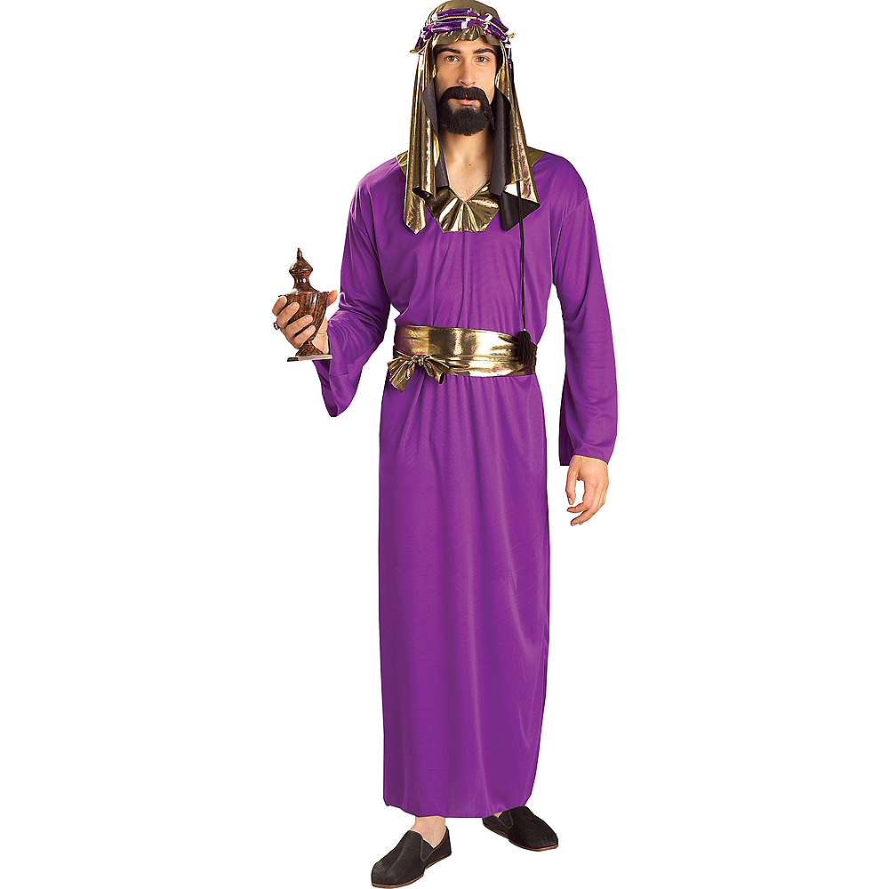 Nav Item for Adult Purple Wise Man Costume Image #1
