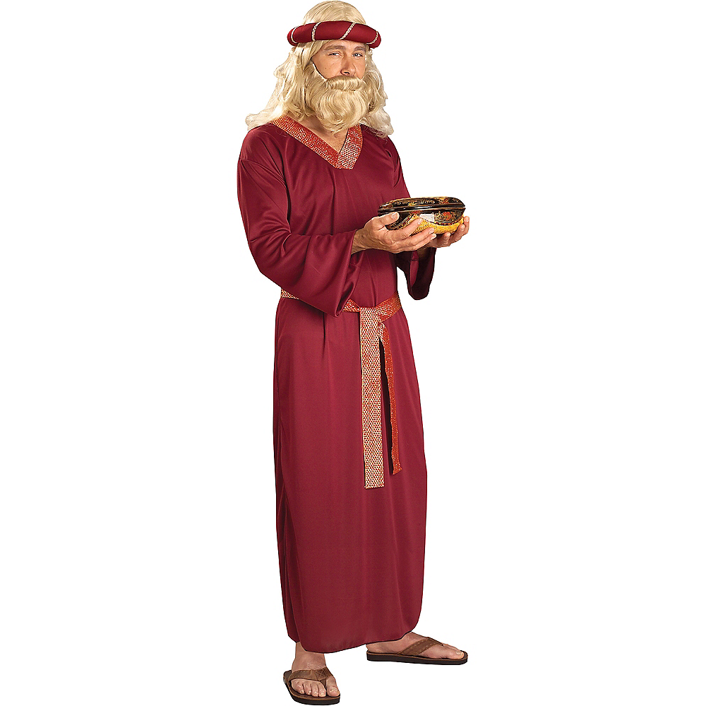 Adult Burgundy Wise Man Costume Image #1