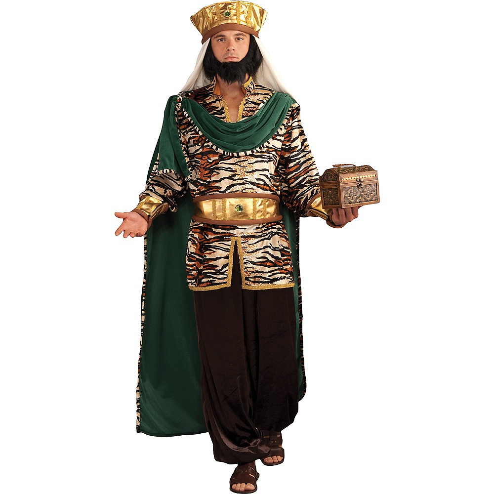 Nav Item for Adult Emerald Wise Man Costume Image #1