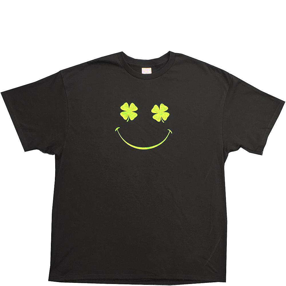 Shamrock Smiley Face St. Patrick's Day T-Shirt Image #1