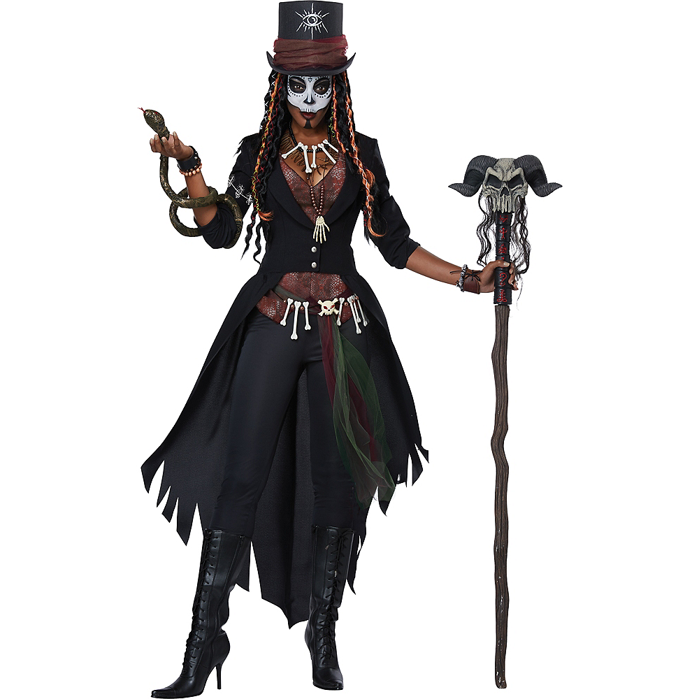 Womens Voodoo Magic Witch Doctor Costume Party City