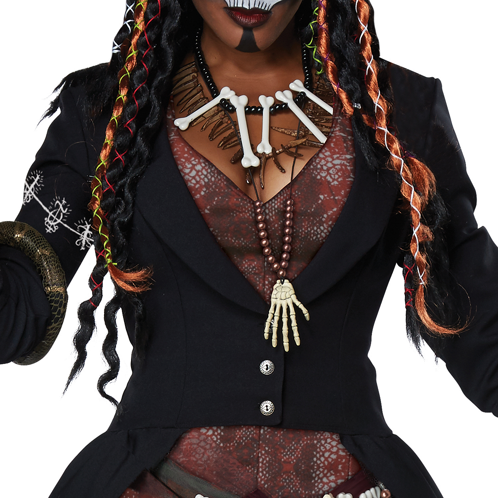 Womens Voodoo Magic Witch Doctor Costume Image #3