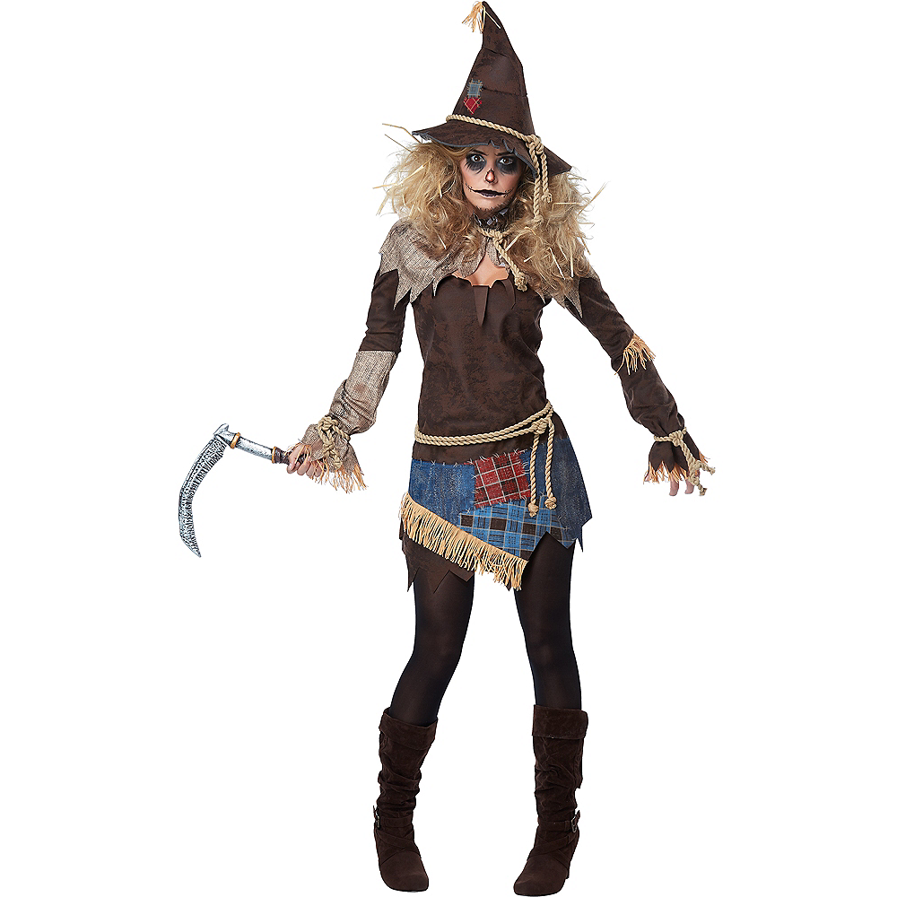 Womens Creepy Scarecrow Costume Image #1