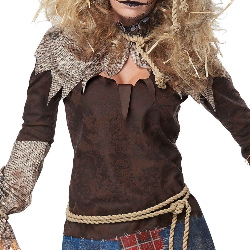 Womens Creepy Scarecrow Costume Image #3