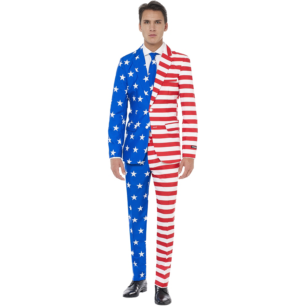 Adult American Flag Suit Image #1