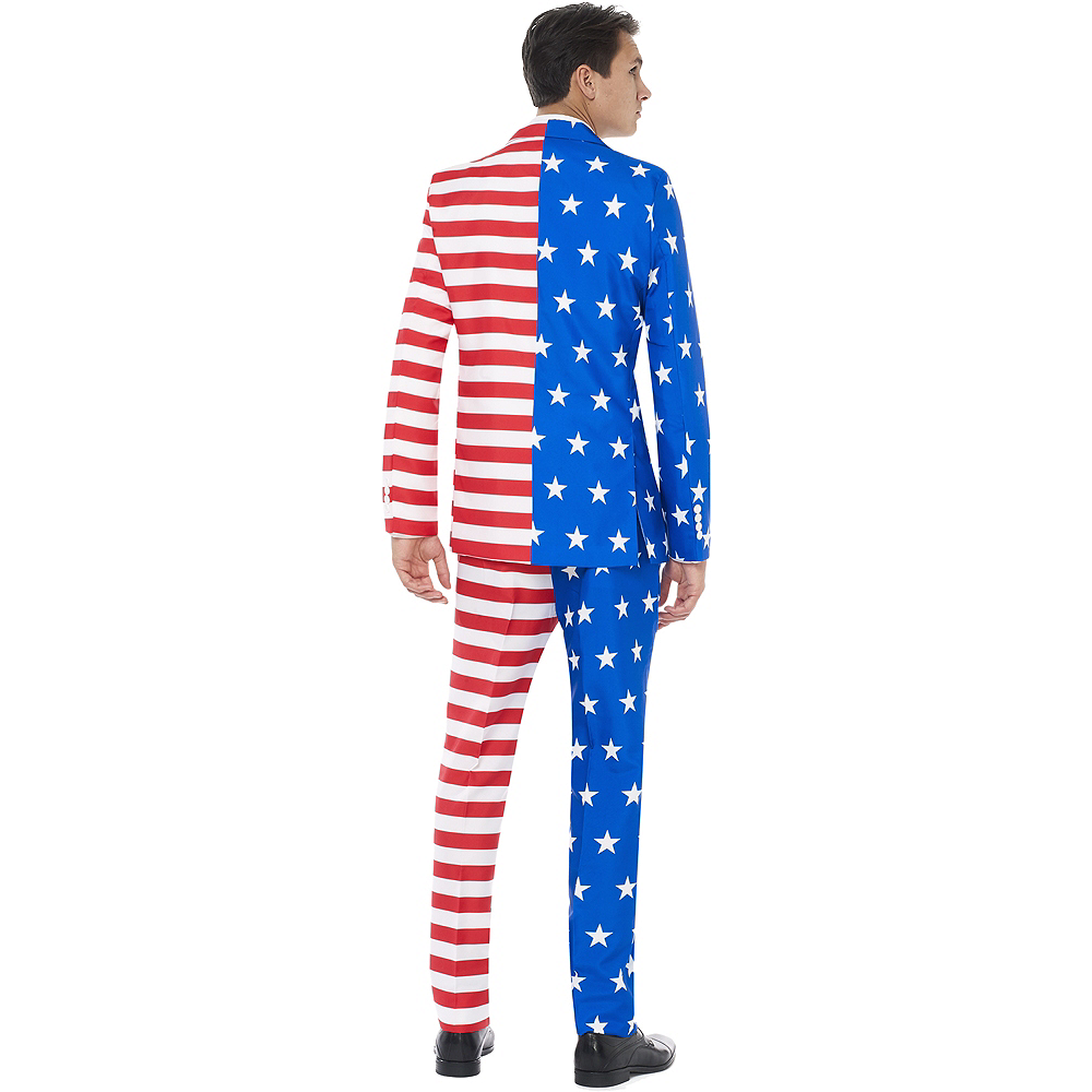 Nav Item for Adult American Flag Suit Image #2