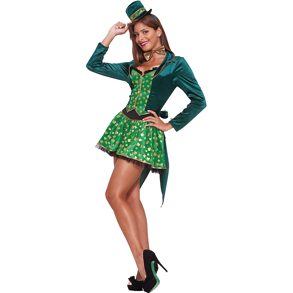Nav Item for Adult Sexy Leprechaun St. Patrick's Day Costume Image #1