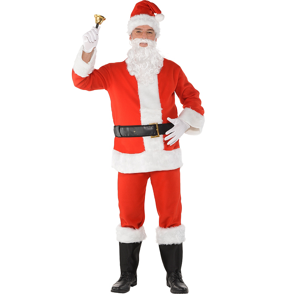 Adult Flannel Santa Suit Costume Kit Image #1