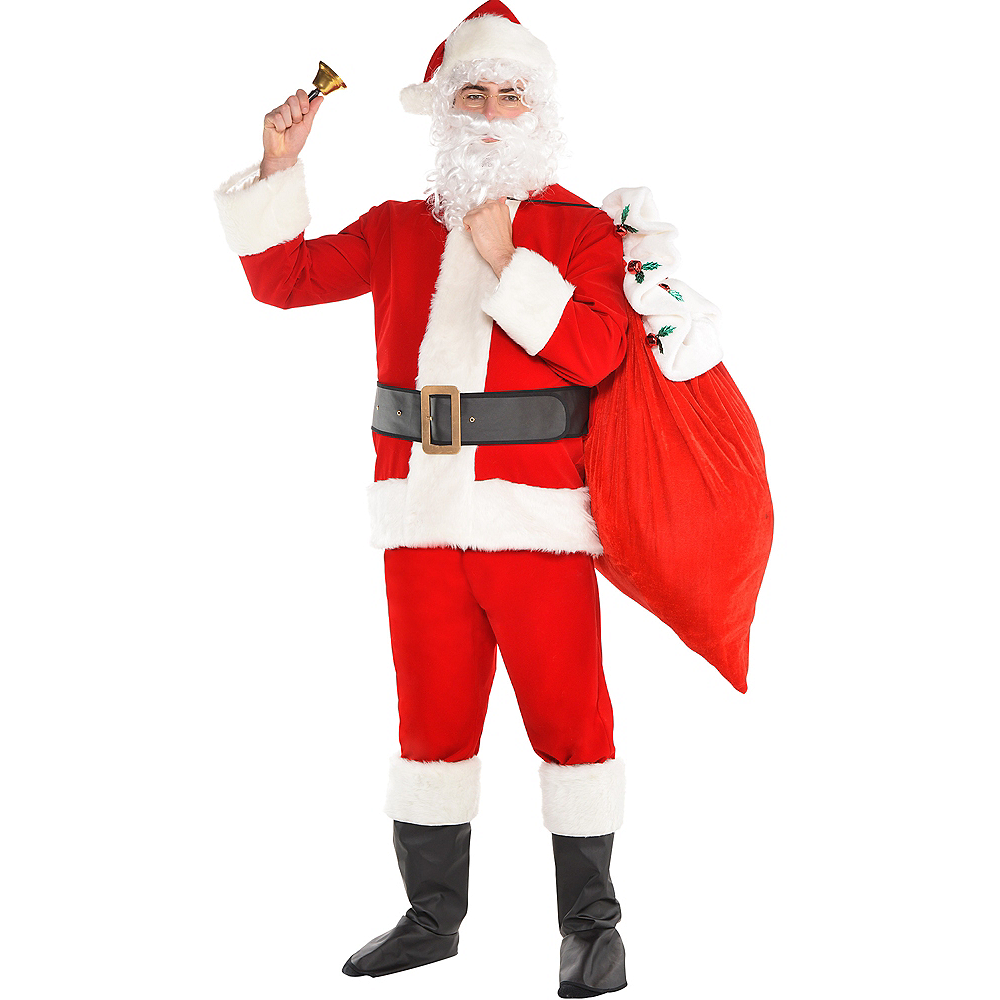 Adult Velvet Santa Suit Costume Kit Image #1