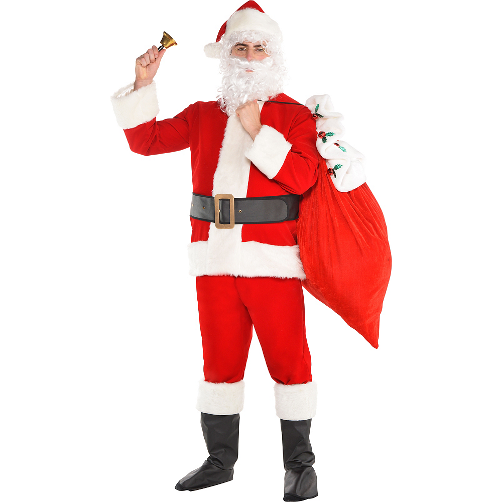 Adult Velvet Santa Suit Costume Kit Image #2