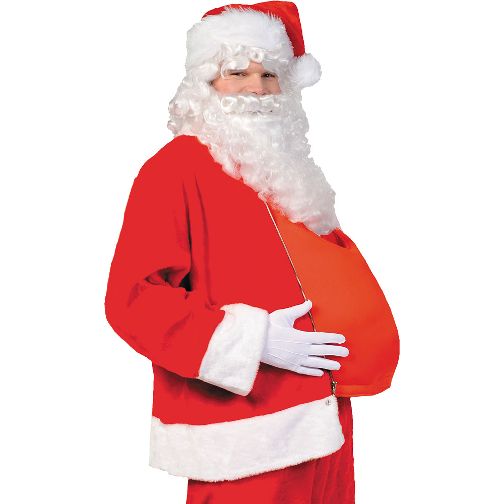 Nav Item for Adult Dark Red Santa Suit Costume Kit Image #3
