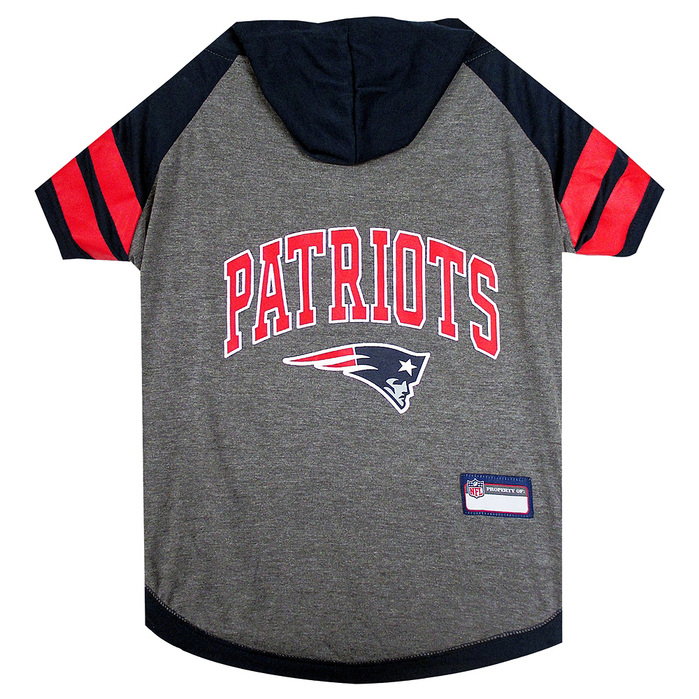 Nav Item for New England Patriots Dog Hoodie Image #1