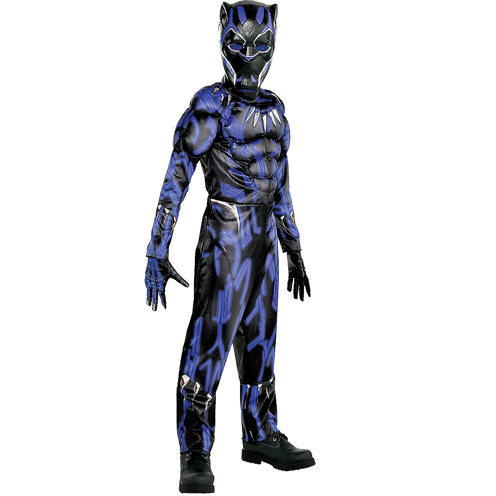 Boys Black Panther Muscle Costume - Black Panther Movie Image #1